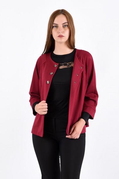 Жакет мод. 1102 цвет Бордовый