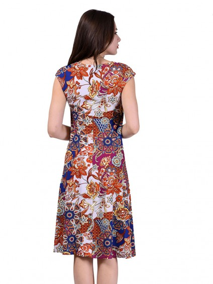 Платье мод. 1413-1 цвет Терракот