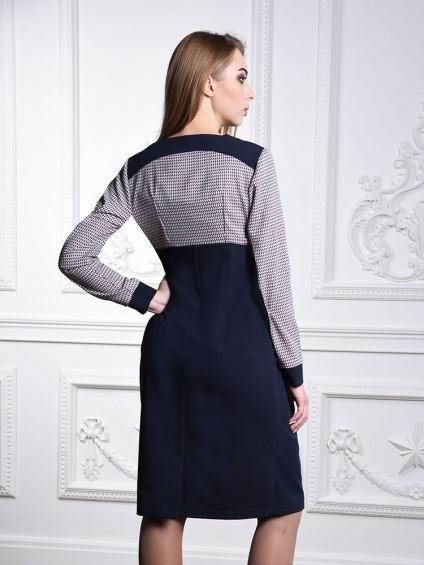 Платье мод. 1422-1 цвет Синий