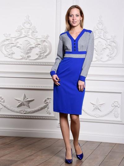 Платье мод. 1422-1 цвет Василек