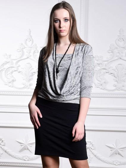 Платье мод. 1434 цвет Серый