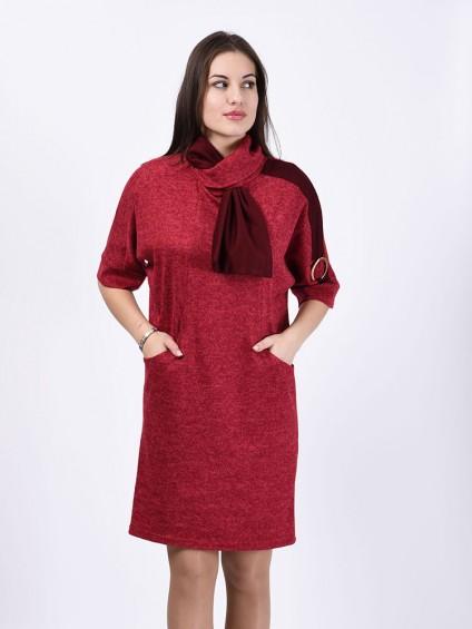 Платье мод. 1445-1 цвет Красный