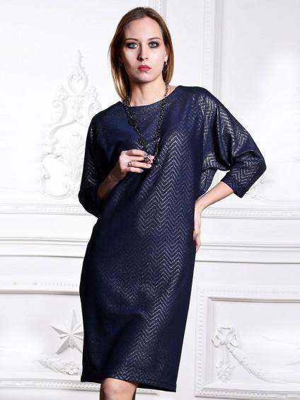 Платье мод. 1446 цвет Синий+серебро