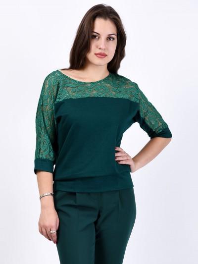 Блуза мод. 1447-1 цвет Изумрудный