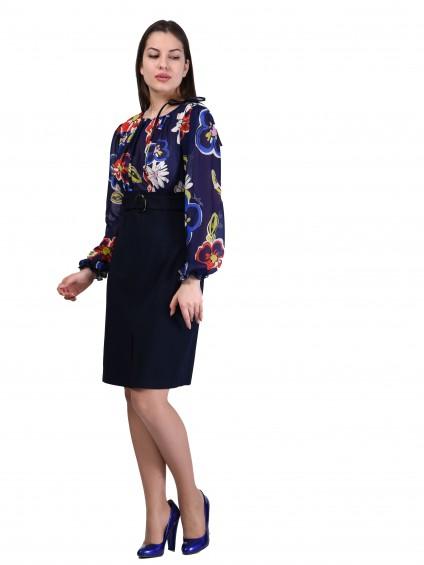 Платье мод. 1450 цвет Синий