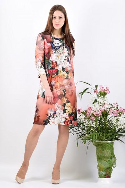 Платье мод. 1454-2 цвет Терракотовый