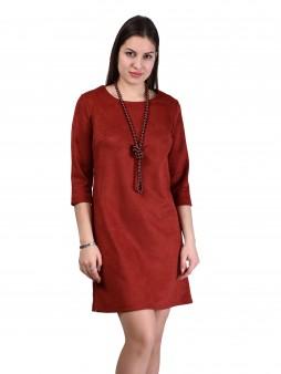 Платье мод. 1454 цвет Терракотовый