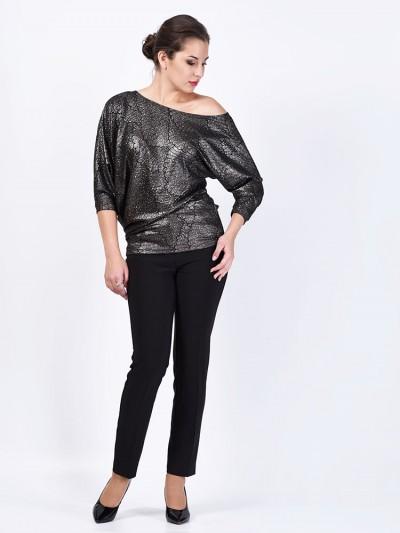 Блуза мод. 1457-2 цвет Серебряный