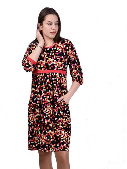 Платье мод. 1463-4 цвет Оранжевый