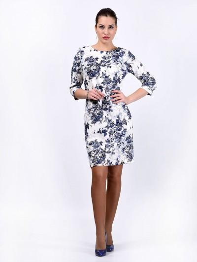Платье мод. 1482-3 цвет Голубой