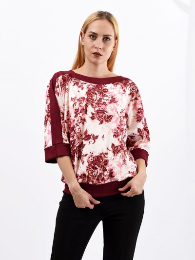 Блуза мод. 1523 цвет Бордовый