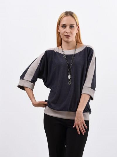 Блуза мод. 1523 цвет Темно-серый