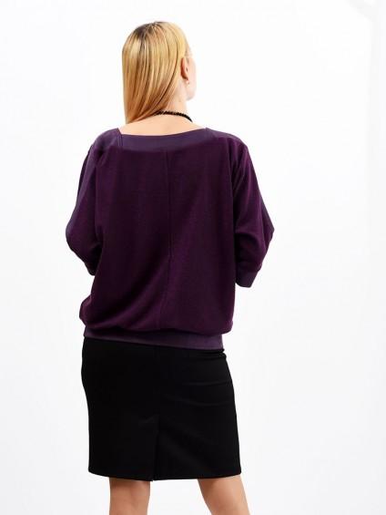 Блуза мод. 1523 цвет Фиолетовый