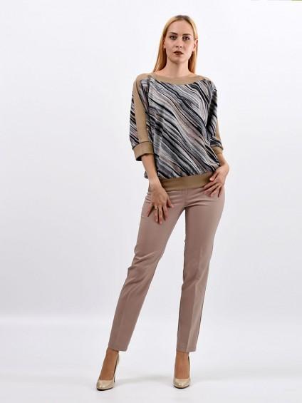 Блуза мод. 1523 цвет Серый