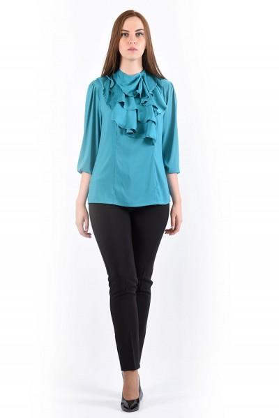 Блуза мод. 1524 цвет Бирюзовый