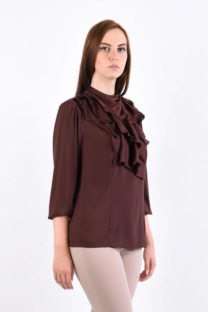 Блуза мод. 1524 цвет Коричневый