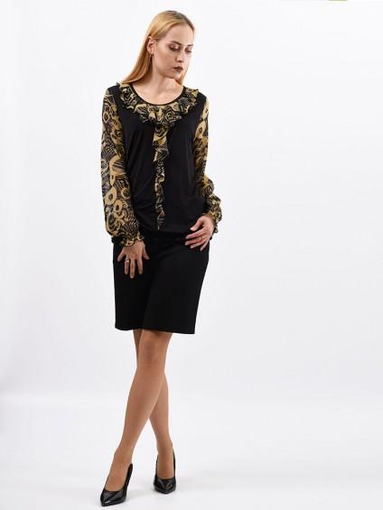 Блуза мод. 1533 цвет Черный