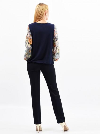 Блуза мод. 1533 цвет Синий