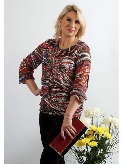 Блуза мод. 1533 цвет Красный
