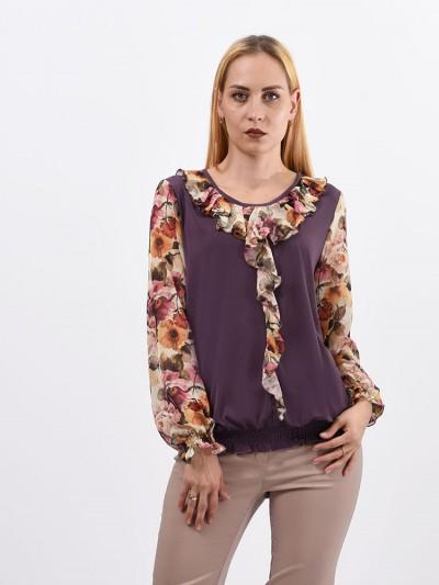 Блуза мод. 1533 цвет Сухая роза