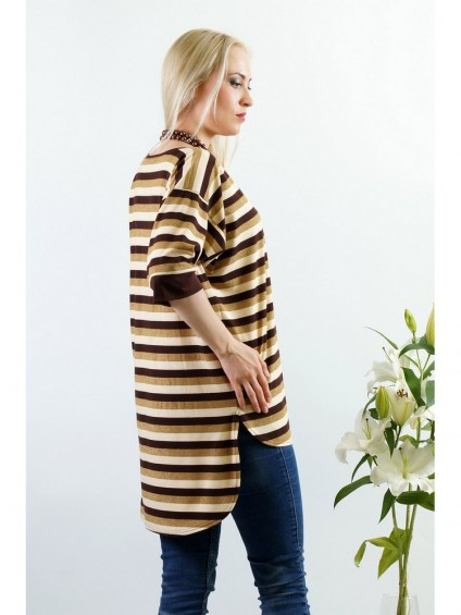 Блуза мод. 1536 цвет Коричневый