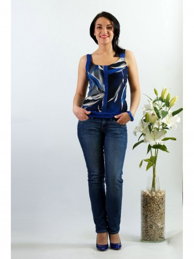 Топ мод. 1543 цвет Синий