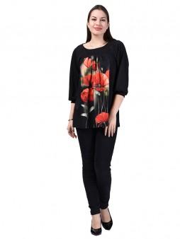 Туника мод. 1544-2 цвет Маки