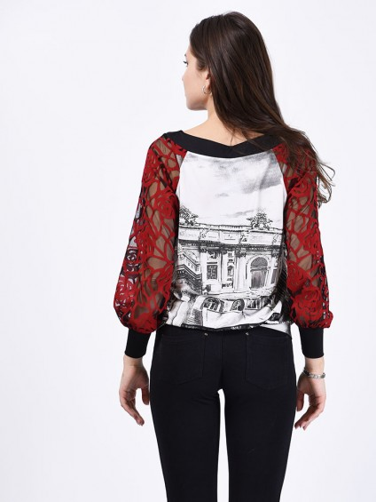 Блуза мод. 1554 цвет Черный