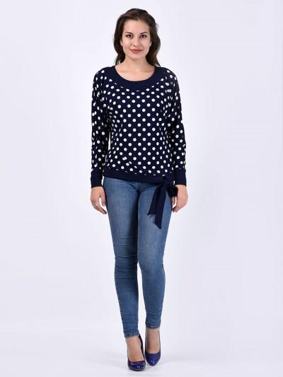 Блуза мод. 1566 цвет Горох