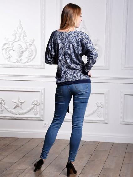 Блуза мод. 1566 цвет Синий