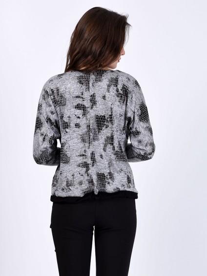 Блуза мод. 1566 цвет Серебро