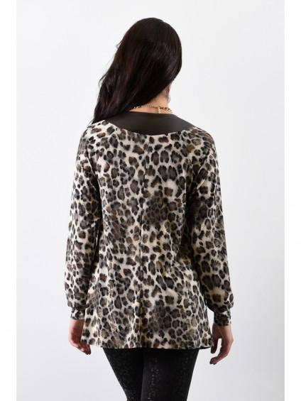 Блуза мод. 1571 цвет Коричневый