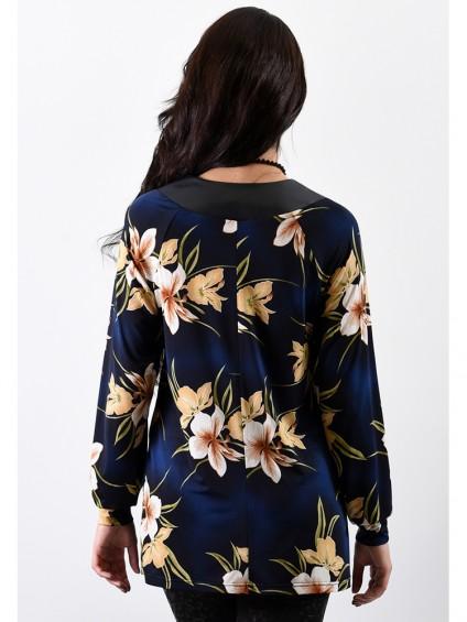 Блуза мод. 1571 цвет Синий