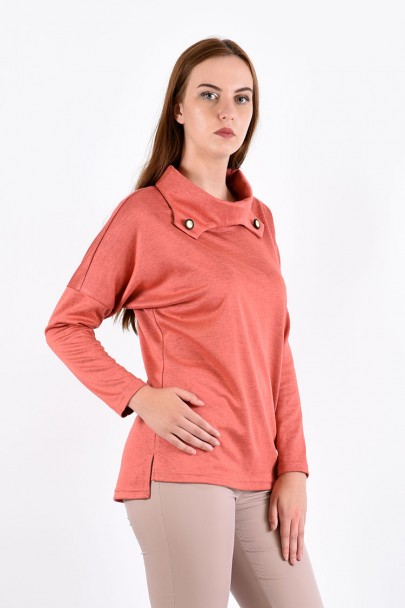 Блуза мод. 1574 цвет Персиковый