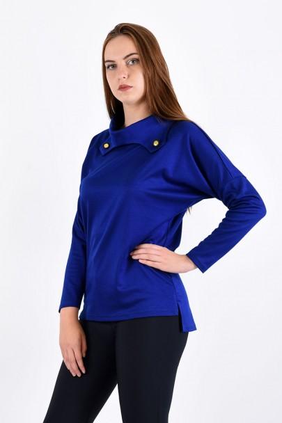 Блуза мод. 1574 цвет Васильковый