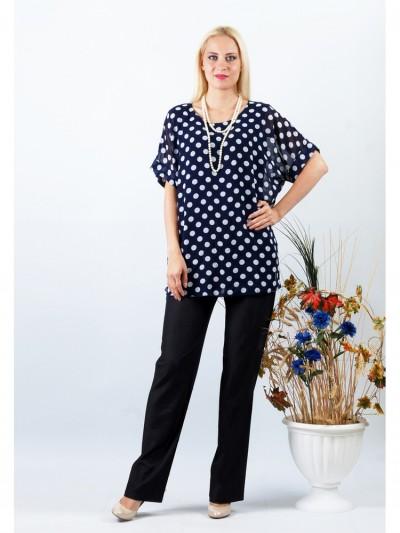 Блуза мод. 1588 цвет Синий
