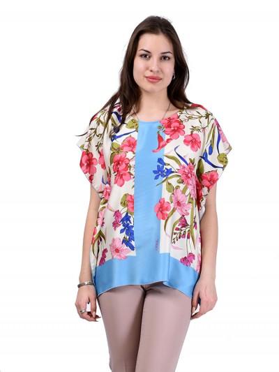 Блуза мод. 1589-1 цвет Голубой