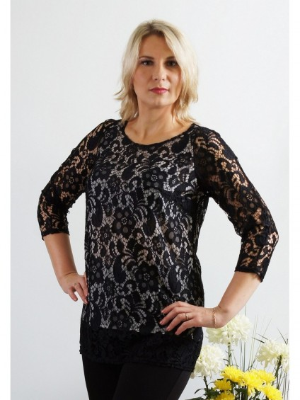 Блуза мод. 1590 цвет Черный