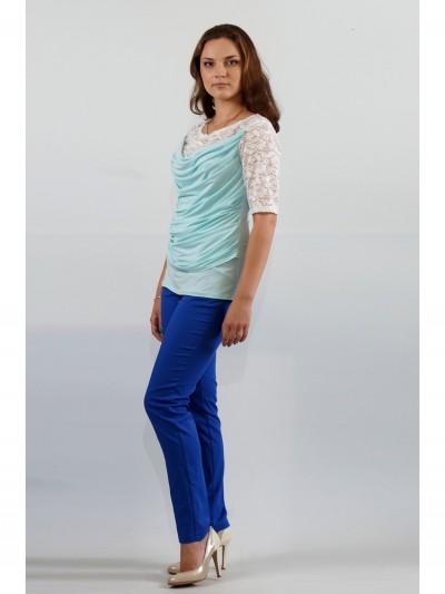 Блуза мод. 1625-1 цвет Голубой