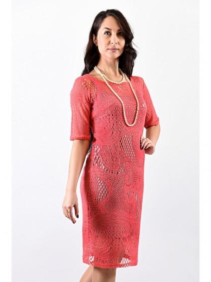 Платье мод. 1626-1 цвет Персиковый