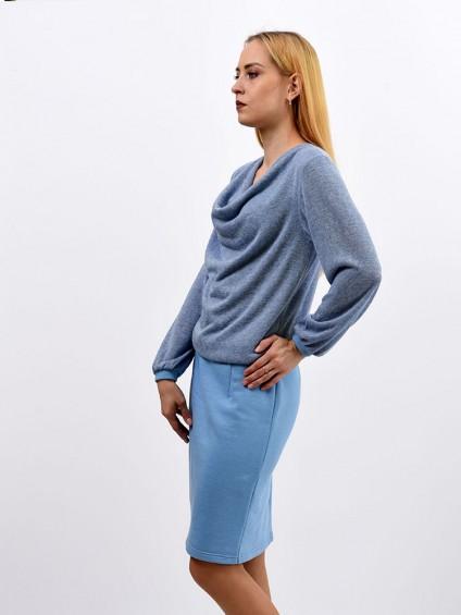 Платье мод. 1633-1 цвет Голубой
