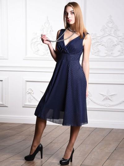 Платье мод. 1715-1 цвет Синий