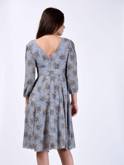 Платье мод. 1715-2 цвет Голубой