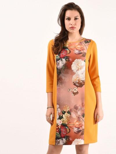 Платье мод. 1731-1 цвет Терракот
