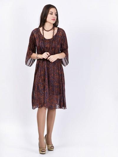 Платье мод. 1748 цвет Коричневый