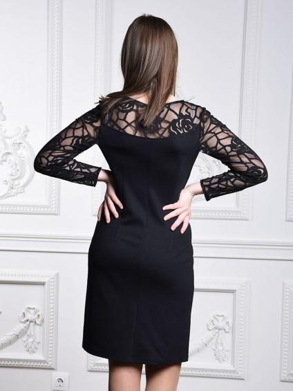 Платье мод. 1765-1 цвет Черный