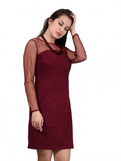 Платье мод. 1765-1 цвет Бордовый