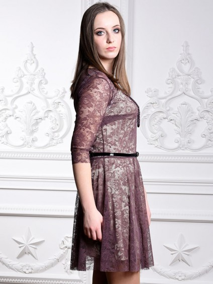 Платье мод. 1767 цвет Шоколад