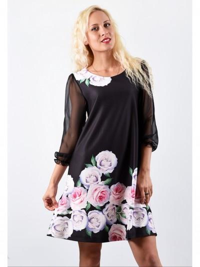 Платье мод. 1777-2 цвет Черный
