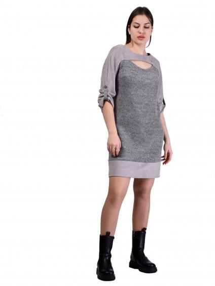 Платье мод. 1784 цвет Серый